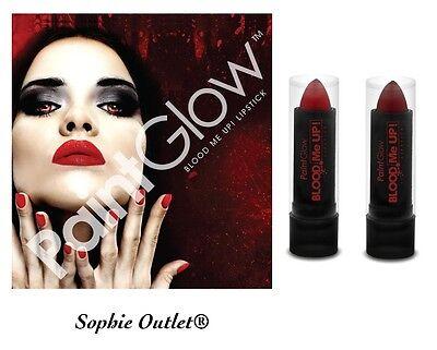 Genuine PaintGlow BLOOD ME UP LIPSTICK Fake Stage Film Make Up Halloween New UK - Red Lipstick Halloween Makeup
