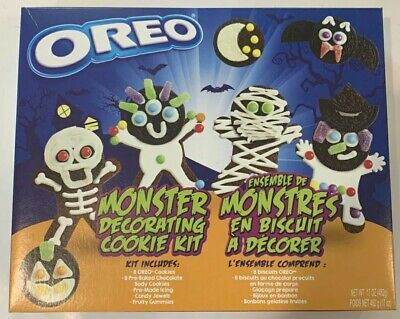 NEW OREO Monster Decorating Cookie Kit Halloween Cookies Fast Shipping