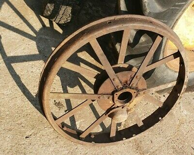 Mccormick Deering 1020 Tractor Front Steel Wheel With Bearing Cap Ihc Part