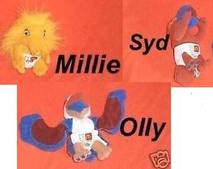 #AA. THREE AUSTRALIAN McDONALDS TOYS - SYDNEY 2000 OLYMPICS, MASCOT BABIES