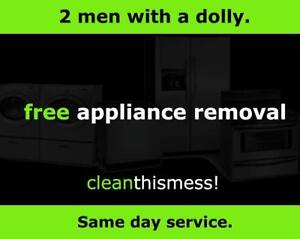 Same Day Appliance Removal : FREE Pick Up Service