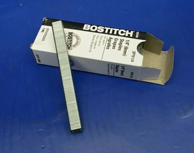 "(40 Boxes) Stanley Bostitch P3 Staples SP19 1/4"" for P3 (5000 Staples ea.)"