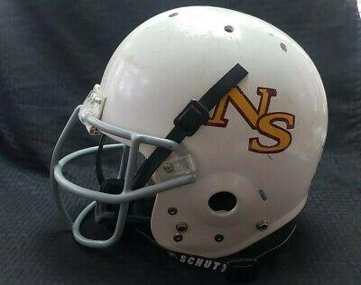 Schutt Youth Air Jr Football Helmet Size Medium White Grey with Black Chinstrap  ()