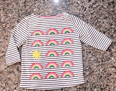 MINI BODEN Rainbow Sunshine Sun Striped 3/4 Sleeve Shirt Size 4/5 Y Girls](Rainbow Sunshine)