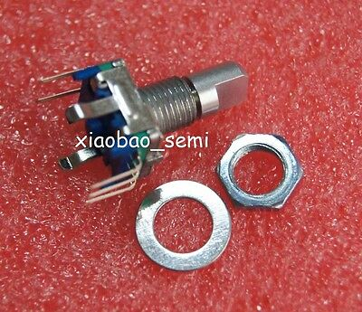 10pcs Ec11 Rotary Encoder Switch Audio Digital Potentiometer 15mm Half Shaft