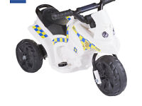 Battery ride on kids bike police car brand new in box