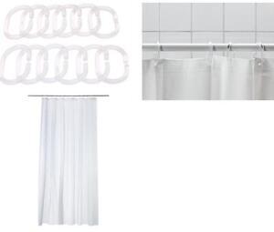 Ikea innaren doccia tenda bianco misura 180x180 cm - Tenda doccia ikea ...