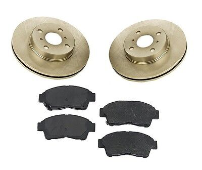 Toyota Corolla 93-97 L4 1.8l Front Brake Kit With Rotors And Semi Metallic Pads on sale