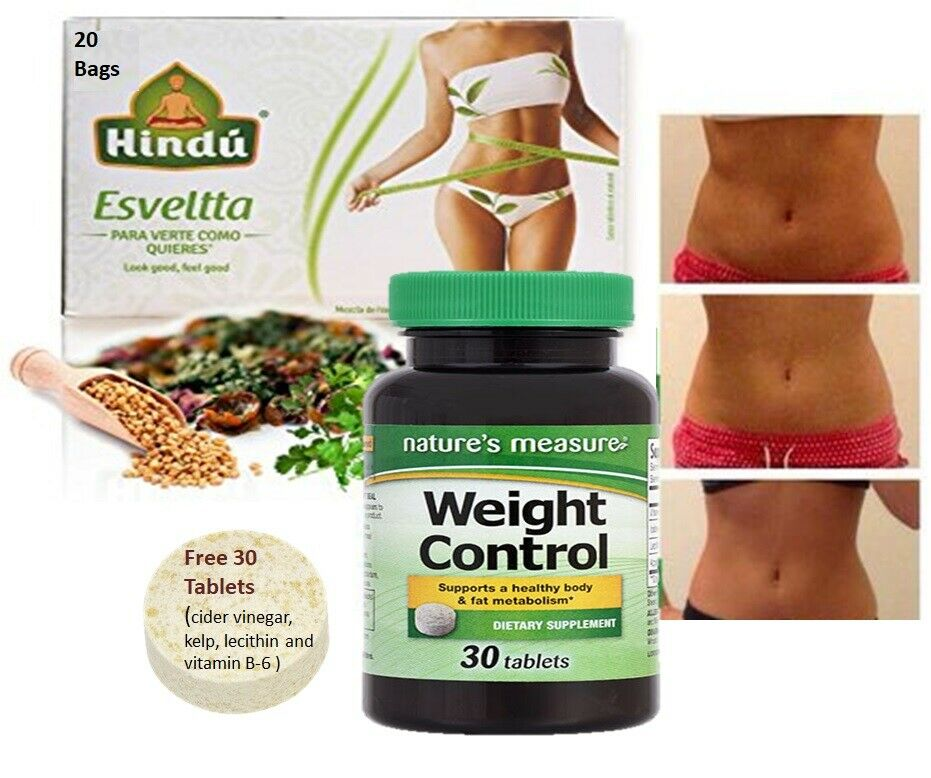 Weight Control Tea 20 BAGS AND 30 TAB ,Slimming Slim Body,Weight Control Detox,  3