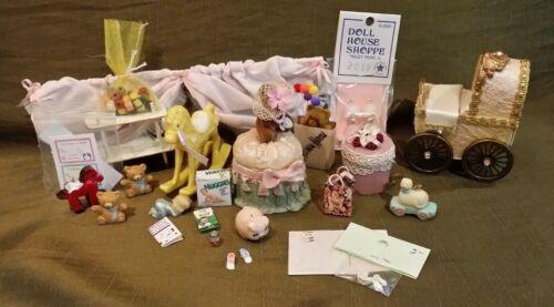 Dollhouse Miniature Nursery Baby Items
