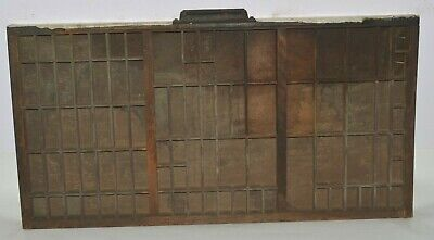 Vintage Printers Letterpress Type Traydrawer California Job Case Special