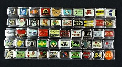 Italian Charms 50 assorted Stainless Steel Wholesale Lot 9mm Claddagh C50-125
