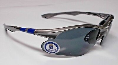 READ LISTING! Kansas City Royals BULLSEYE 3D logo on Met. Grey Blade - Mets Sunglasses