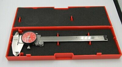 Starrett R120a-6 One Rev Precision Dial Caliper Stainless Steel Red Face