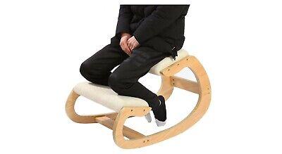 Ergonomic Kneeling Chair For Upright Posture Rocking Chair Knee Stool White Oak