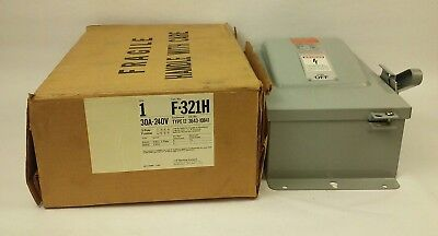 Ite F-321h Safety Switch Type 12 Enclosure 3p Fusible 30a 240vac 250dc Nib