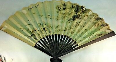 Peoples Republic of China Paper Scenic  Folding Hand Held Fan - Hand Held Paper Fans