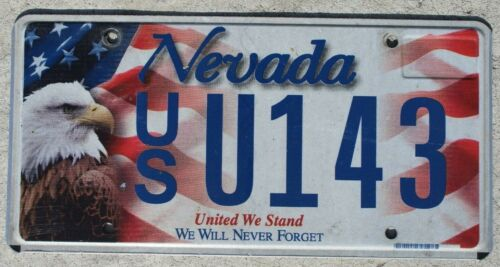 Nevada United We Stand License Plate