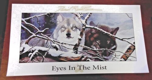1998 Print NWTF Edition Signed EYES IN THE MIST Daniel Pierce Wolf Wolves SALE
