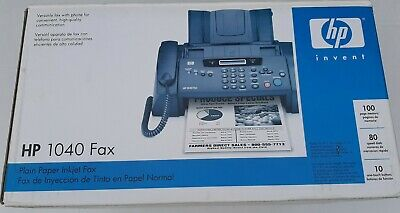 Hp 1040 Inkjet Fax Machine With Built-in Telephonescan Print Pre Owned