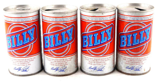 Qty. 4 Billy Beer Can Cold Spring Brewing Co. Top & Bottom Opened Free Shipping
