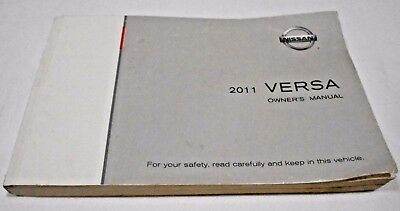 2011 NISSAN VERSA OWNER'S MANUAL.GOOD USED CONDITION   /   FREE S/H //