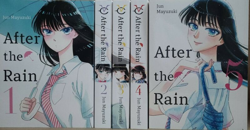 After the Rain Vol. 1 - 5 English Manga Graphic Novels Set Complete Brand NEW