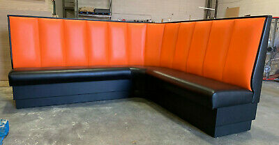 Restaurant Booth L Shape 42 High Upholstered Channel Back