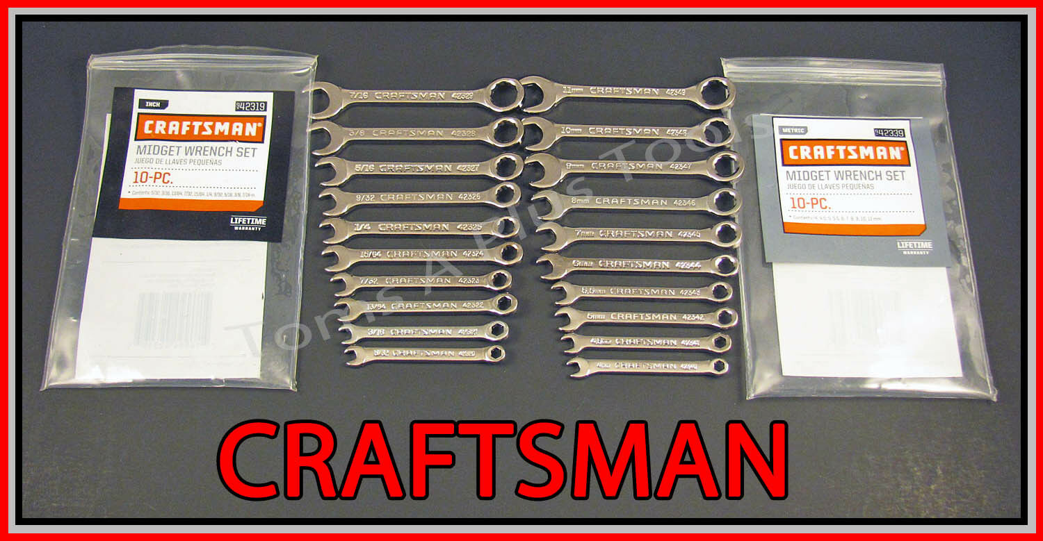 CRAFTSMAN HAND TOOLS 20pc IGNITION SAE & METRIC MM Wrench Set! (MADE
