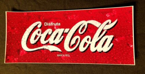 "Coca Cola BIG All Weather Vinyl Sticker Decal Mexico Store Window 19"" by 8"" MINT"