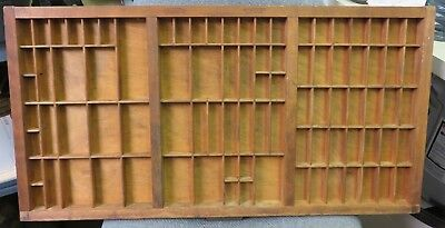 Antique Hamilton Mfg. Co. Type Set Tray Drawer 32