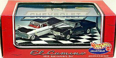 Hot Wheels 100% Collectibles EL CAMINO 40th Anniv. Limited Edition (2) Car Set