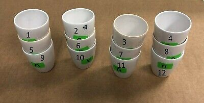 Coors Porcelain Crucible Gooch Filtering 12 Pcs Chemistry Lab Glassware