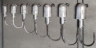 10 HTLURECO Unpainted Bullet Jig Heads Striped Redfish Fluke Ultra Point -