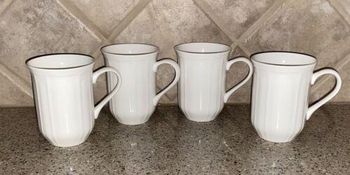 Set of 4~MIKASA~Antique White~Tall Mugs~Cappuccino~Coffee~Tea~Never Used