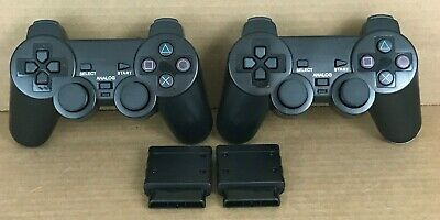 (2 Pack) Sony PlayStation 2 PS2 Wireless Twin Shock Game Controller Joystick New