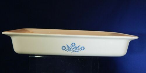 "Corning Ware Blue Cornflower Baking Dish Roaster Pan 12"" X 7.5"" X 2"" P-332 2 QT"
