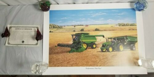 "2003 John Deere ""PERFORMANCE THAT PAYS"" Art Print #1654 By Terry Downs JD8"