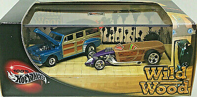 Hot Wheels 100% Collectibles WILD WOOD (2) Car Set Limited Edition