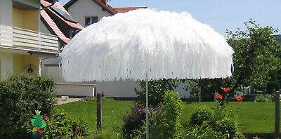 nnenschirm mit Knicker Rund 200 cm weiß NEU (Weiße Sonnenschirm)