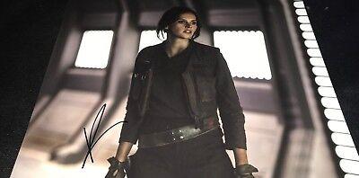 Felicity Jones Star Wars Rogue One Hand Signed 11X14 Autographed Photo Coa Look