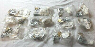 Lot 31 National Cabinet Lock Stock Locks 5 Disc Cam Locks C8055 C8053 C8054 New