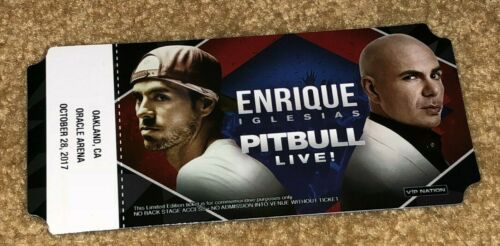 ENRIQUE IGLESIAS & PITBULL LIMITED EDITION TICKET COMMEMORATIVE VIP NATION