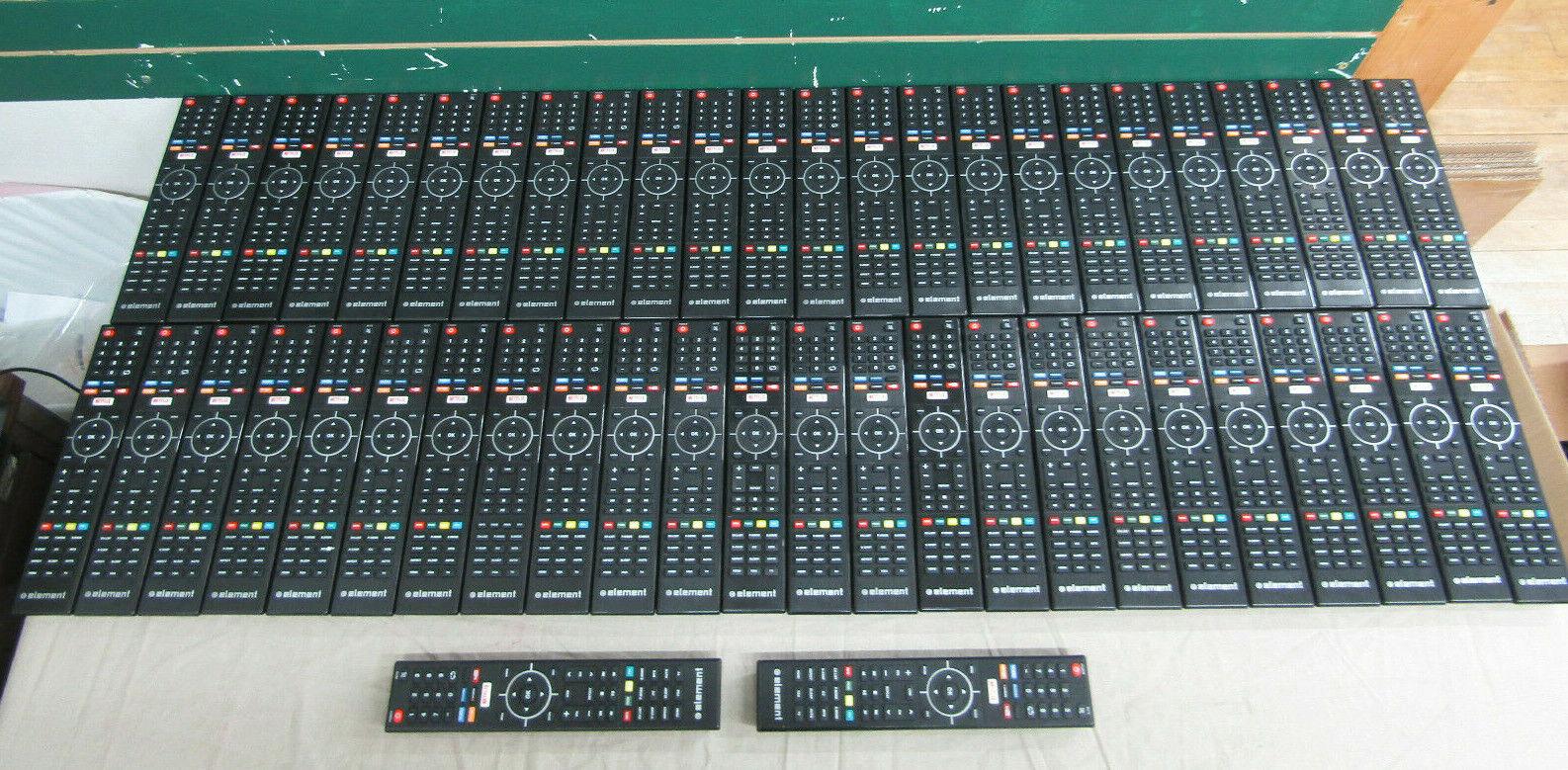 NEW LOT OF 50 GENUINE ELEMENT TV REMOTE CONTROLS 845-058-03B