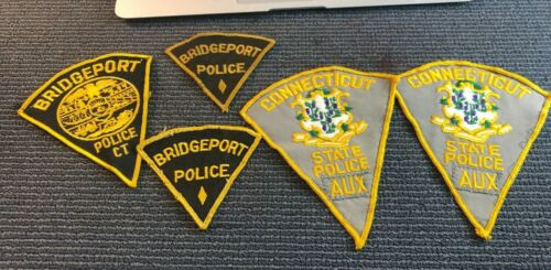 Connecticut Bridgeport Police Patch Set Diff state police