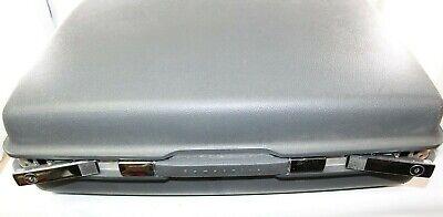 "Vintage 21"" Samsonite Saturn Hardshell Gray Suitcase Luggage w/ key"