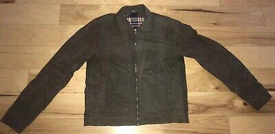 "Cotton Flannel Liner - Wax Cotton Zip Jacket Flannel Lining 43"" Chest Olive"