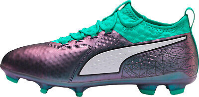 Puma ONE 2 Illuminate Leather Firm Ground Mens Football Boots - Green