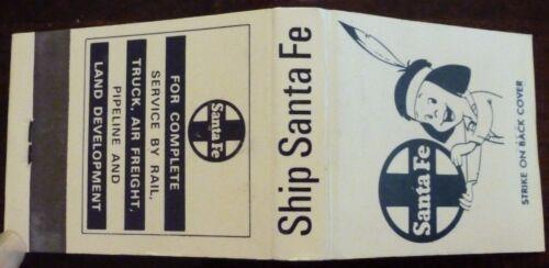 RAILROAD MATCHES SANTA FE, COMPLETE SERVICE, STRAIGHT,  20