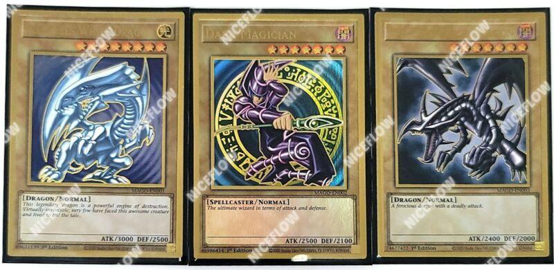 Blue Eyes White Dragon Dark Magician Red Black Maximum Premium Gold MAGO Yugioh